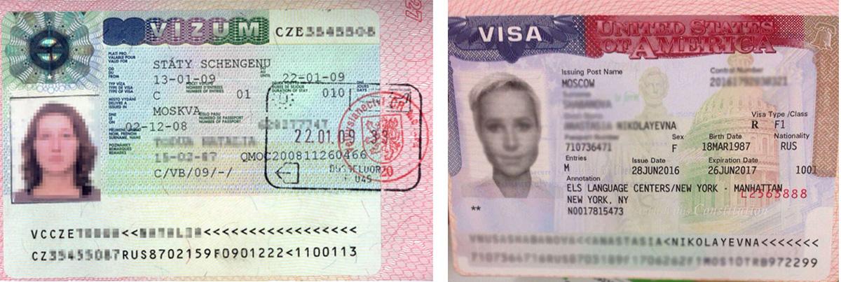 Студенческие визы в Чехию и США