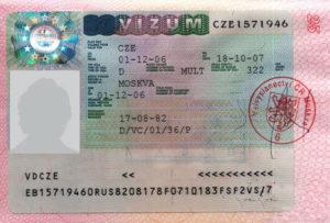 Национальная чешская виза