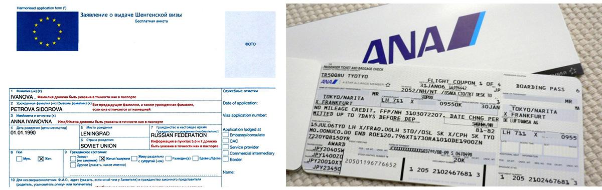 Оформление транзитной шенгенской визы