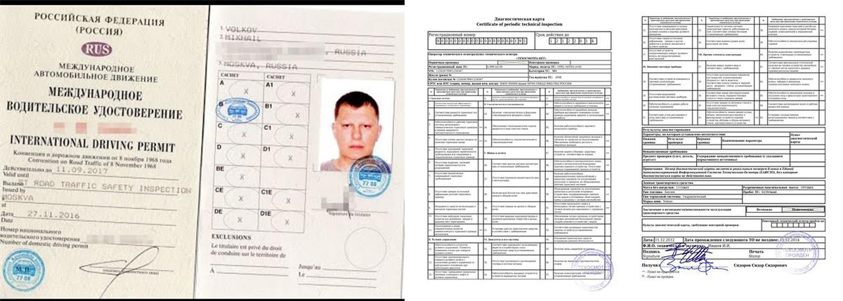 Документы на визу при путешествии на авто