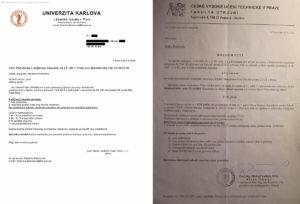 Приглашение в Чехию из вуза