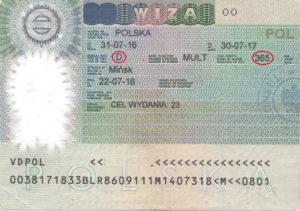 Национальная виза (категория D)
