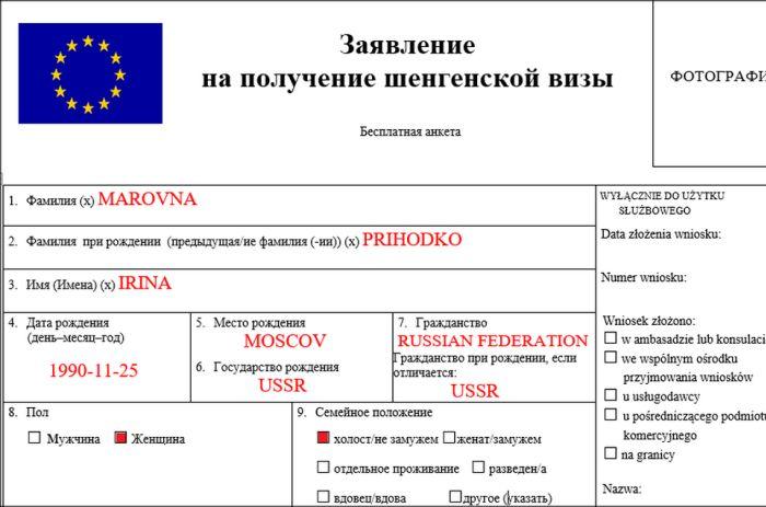 Национальная (D) виза в Польшу - особенности, правила заполнения анкеты