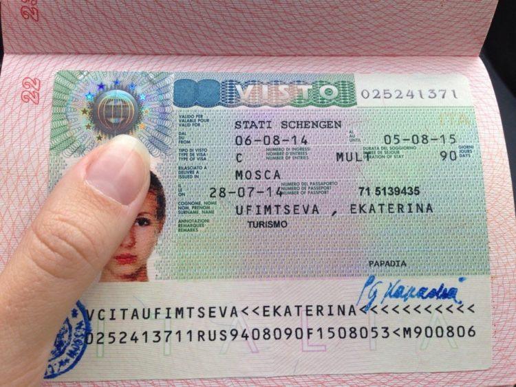 Готовность визы в Италию