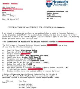 CAS - документ, подтверждающий зачисление студента в ВУЗ Великобритании