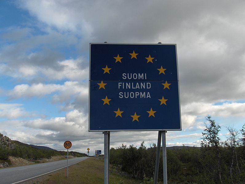 Финляндия дорожные указатели
