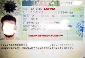 Национальная виза категории D в Латвию