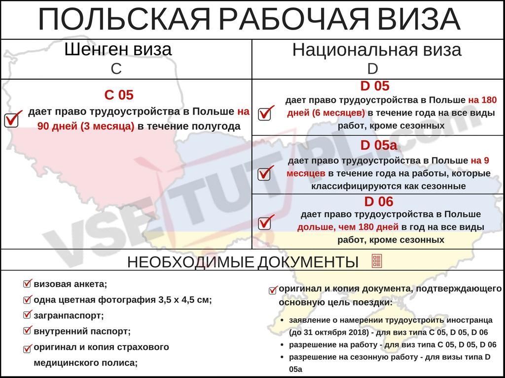 Несколько видов деловых виз