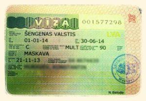 Шенгенская виза в Латвию