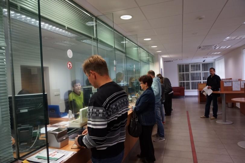 Выдача виз в литовском посольстве