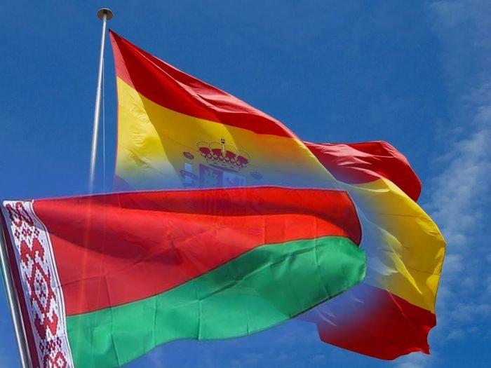 Флаги Беларуси и Испании