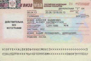 Частная (гостевая) виза в Россию