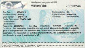 Долгосрочная виза в Новую Зеландию