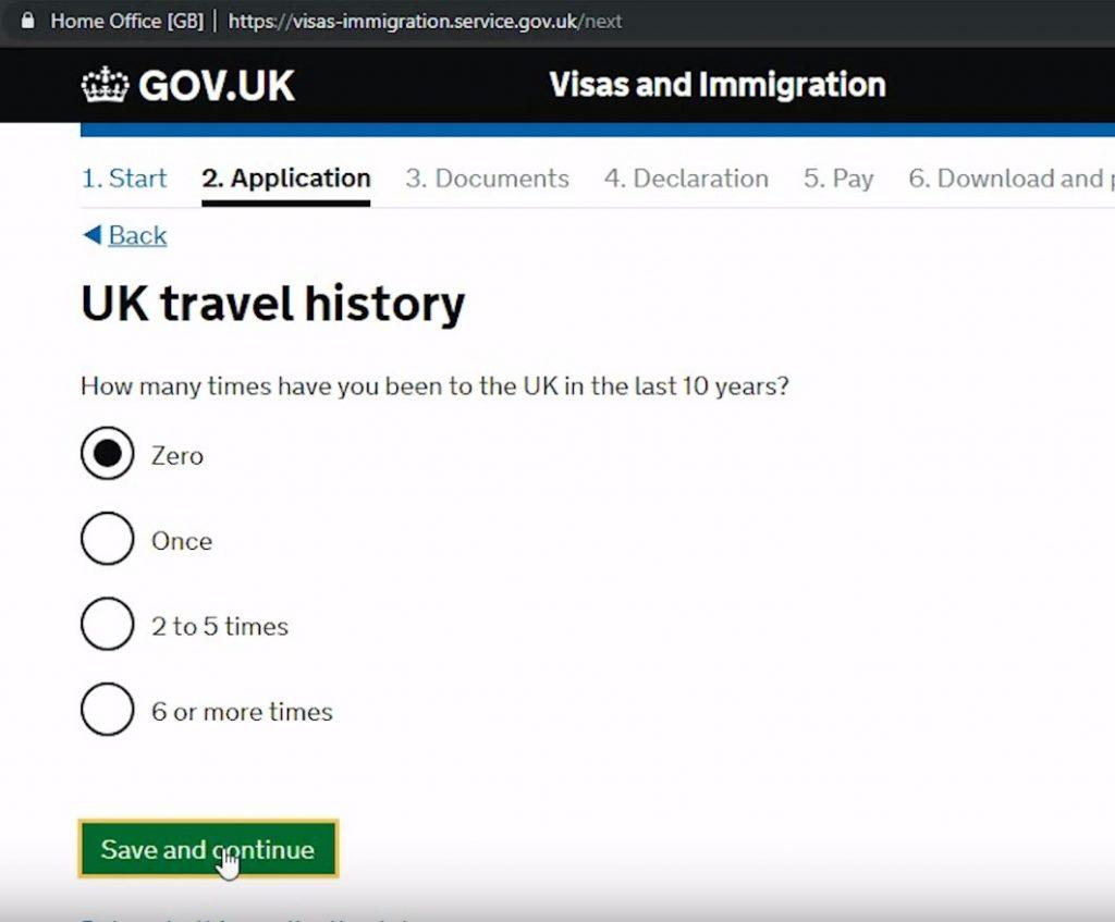 Информация о предыдущих поездках в Англию