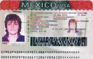 Многократная десятилетняя виза в Мексику