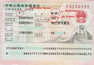 Мультивиза в Китай