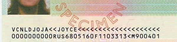 Нижние строчки Шенгенской визы