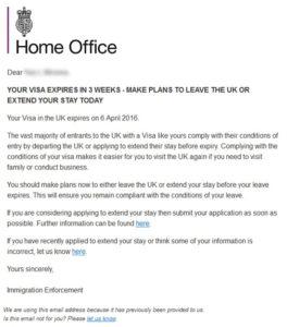 Образец приглашения для визы в Великобританию
