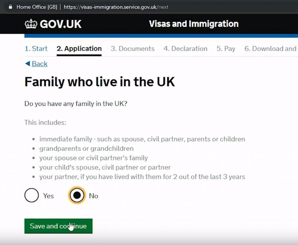 а также по родственникам, которые проживают на территории Великобритании