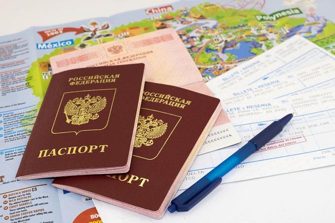 паспорт, авиабилеты