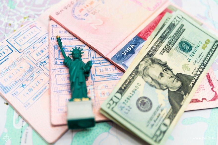 Для оформления виз в некоторые страны необходимы деньги в долларах