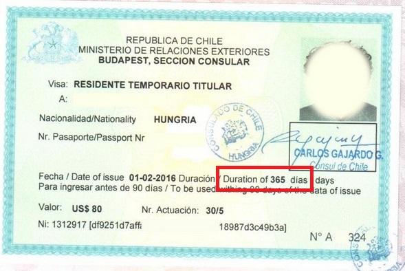 Долгосрочная виза в Чили