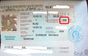 Краткосрочная виза в Беларусь