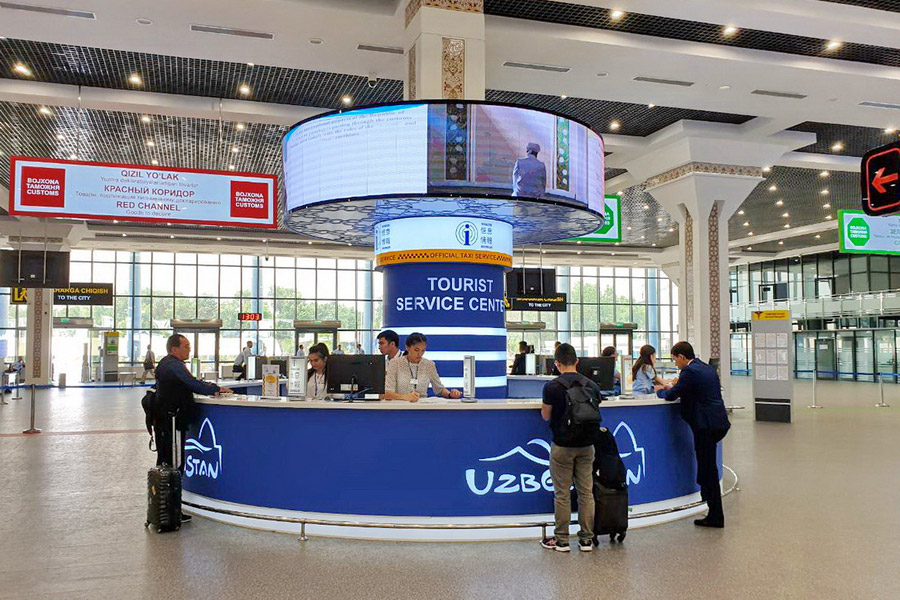 Транзит через международные аэропорты Узбекистана