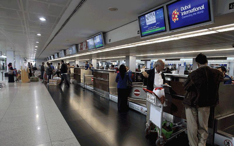 В аэропорту Дубай, по прилету