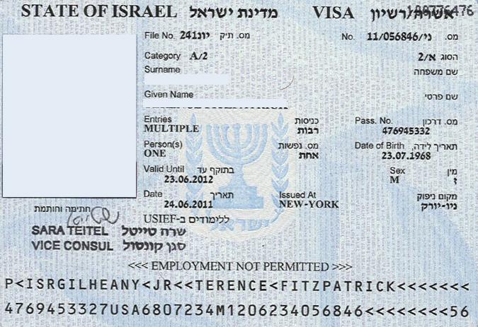 Рабочая виза в израиль для белорусов
