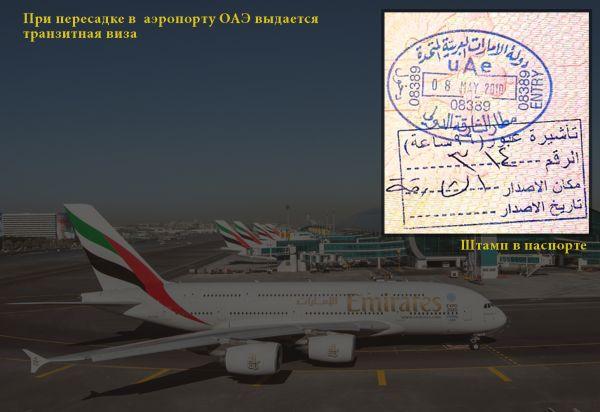 Изображение штампа о транзите в паспорте
