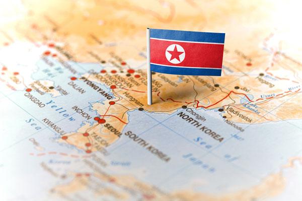 Северная Корея на карте