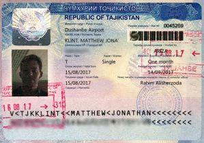 Таджикская виза